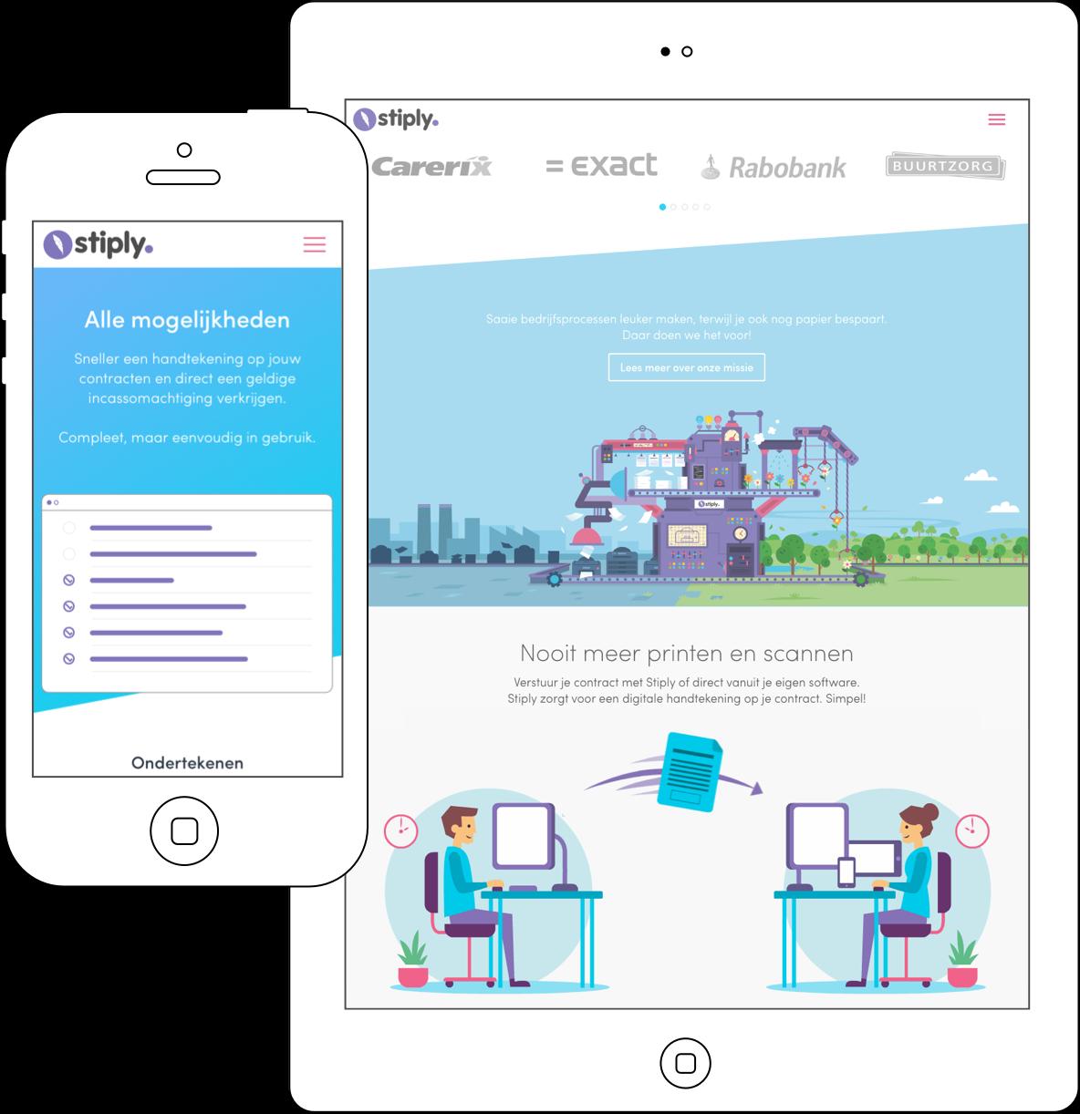 Client Stiply responsive webdesign